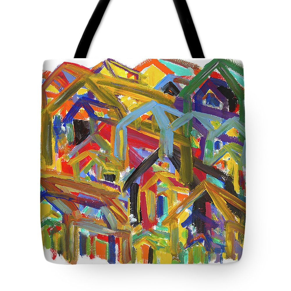 Painting Tote Bag featuring the painting Living Together by Bjorn Sjogren
