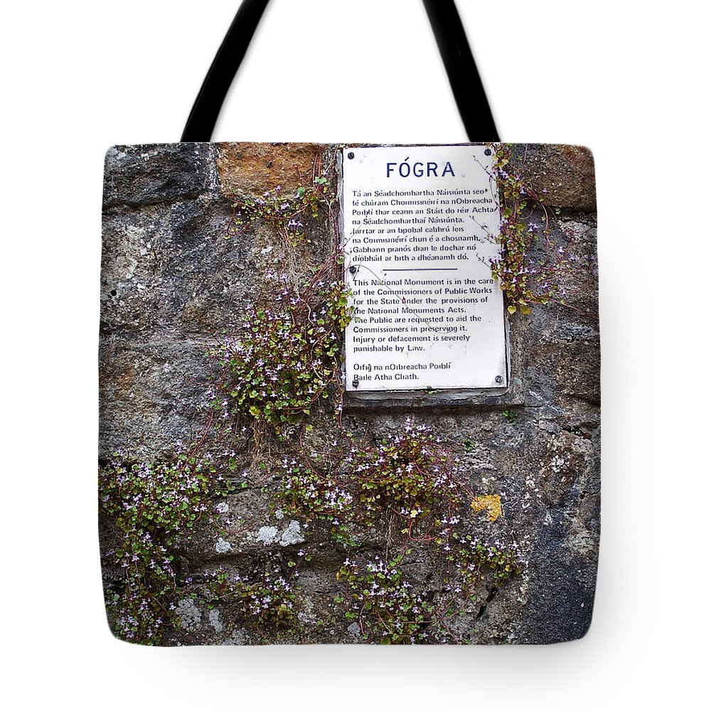Irish Tote Bag featuring the photograph Living Wall At Donegal Castle Ireland by Teresa Mucha