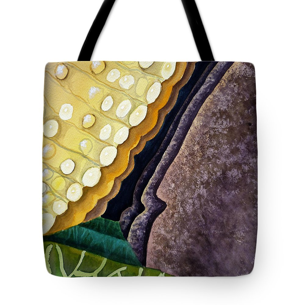 Abstract Art Tote Bag featuring the painting Lizard Skin Abstract IIi by Irina Sztukowski