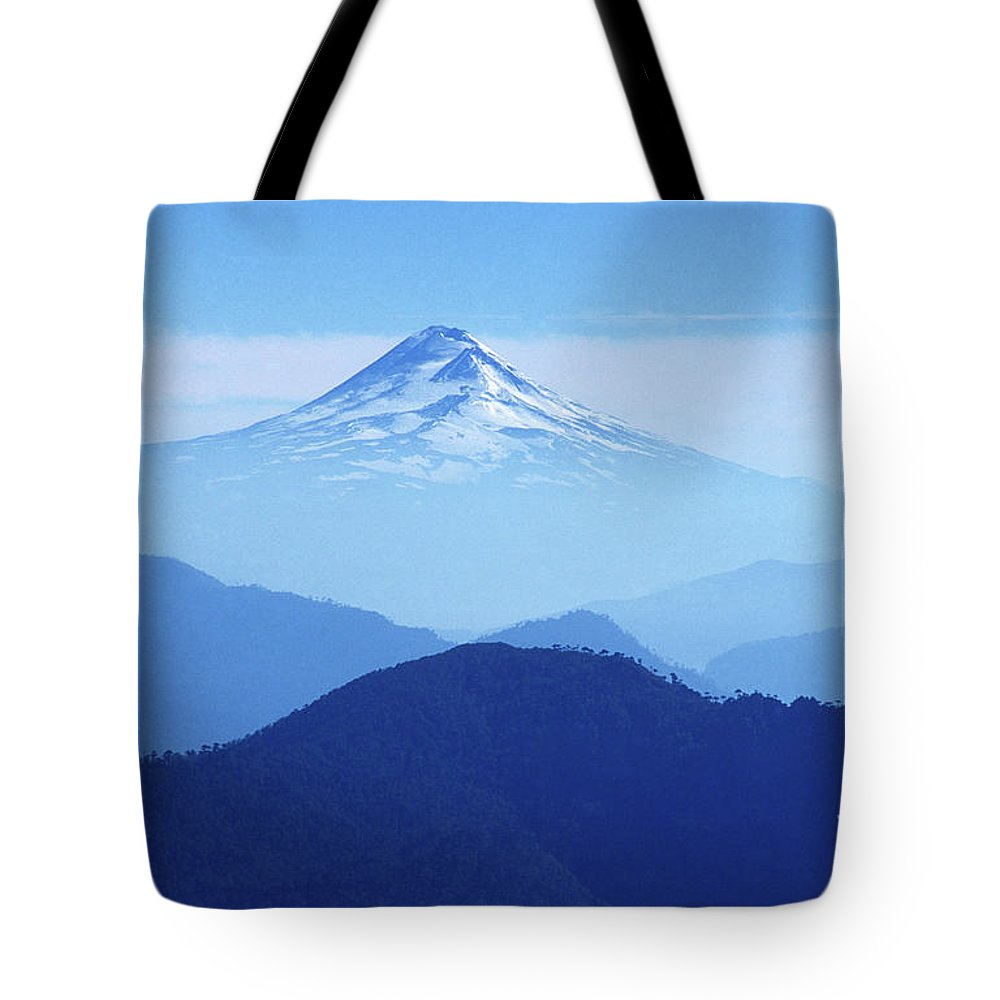 Chile Tote Bag featuring the photograph Llaima Volcano Chile by James Brunker