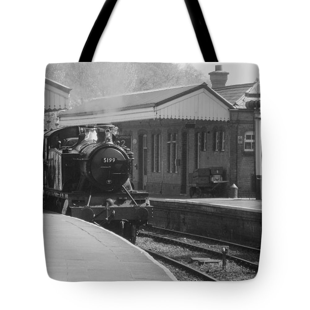 Llangollen Tote Bag featuring the photograph Llangollen 5199 Bw by Brainwave Pictures