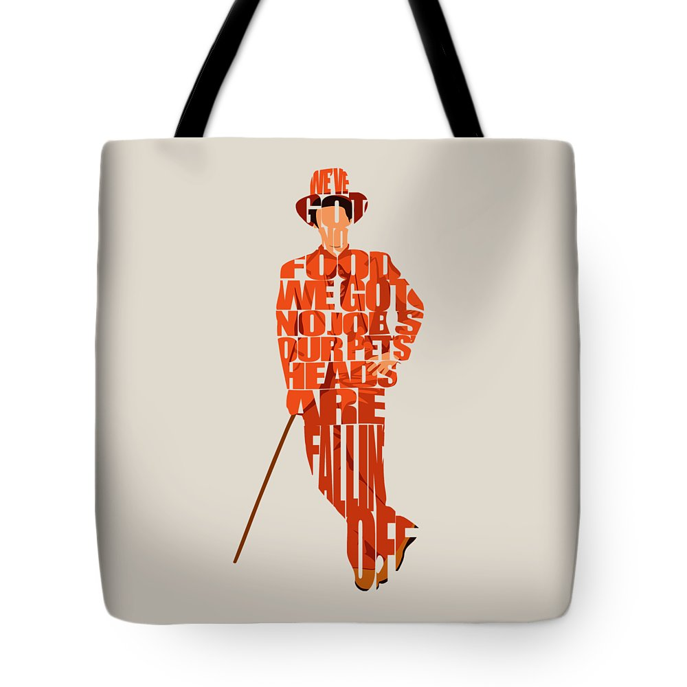 Lloyd Christmas Tote Bag featuring the digital art Lloyd Christmas by Inspirowl Design