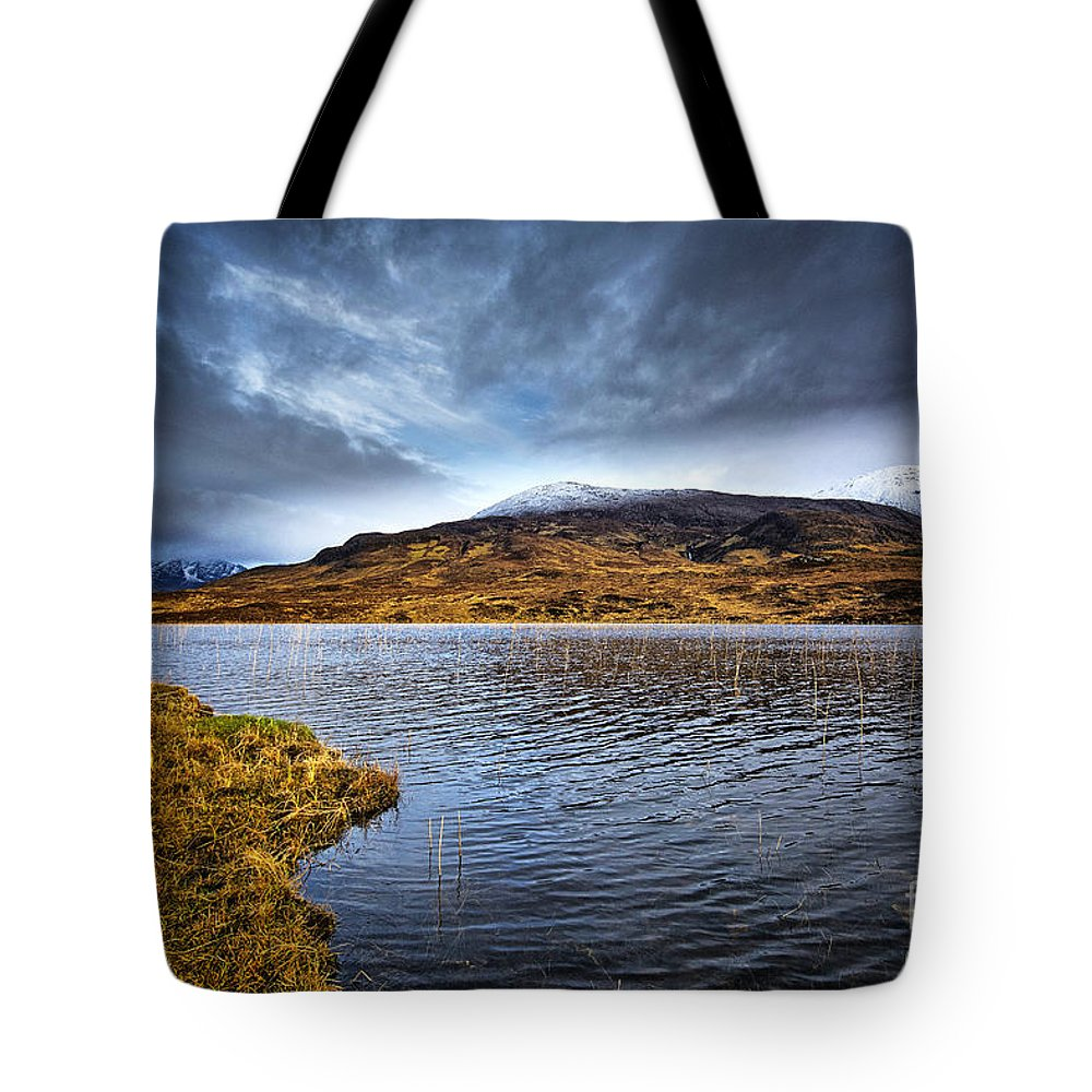 Loch Cill Chrisiod Tote Bag featuring the photograph Loch Cill Chrisiod by Smart Aviation