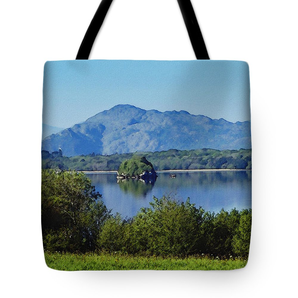 Irish Tote Bag featuring the painting Loch Leanne Painting Killarney Ireland by Teresa Mucha