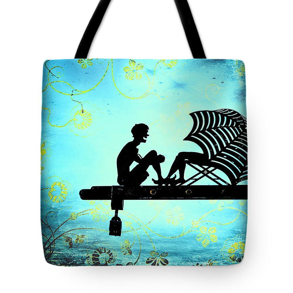 Beach Tote Bag featuring the photograph Locks Of Love by Evelina Kremsdorf
