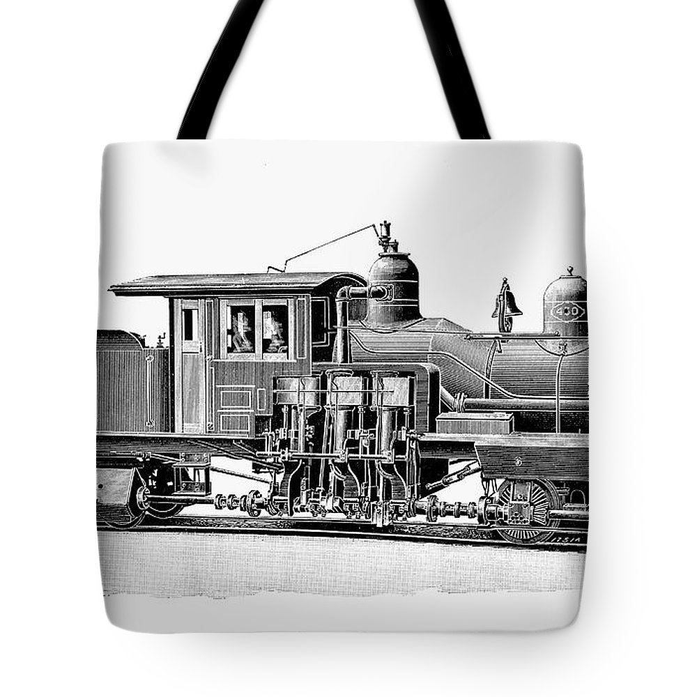 1893 Tote Bag featuring the photograph Locomotive, 1893 by Granger