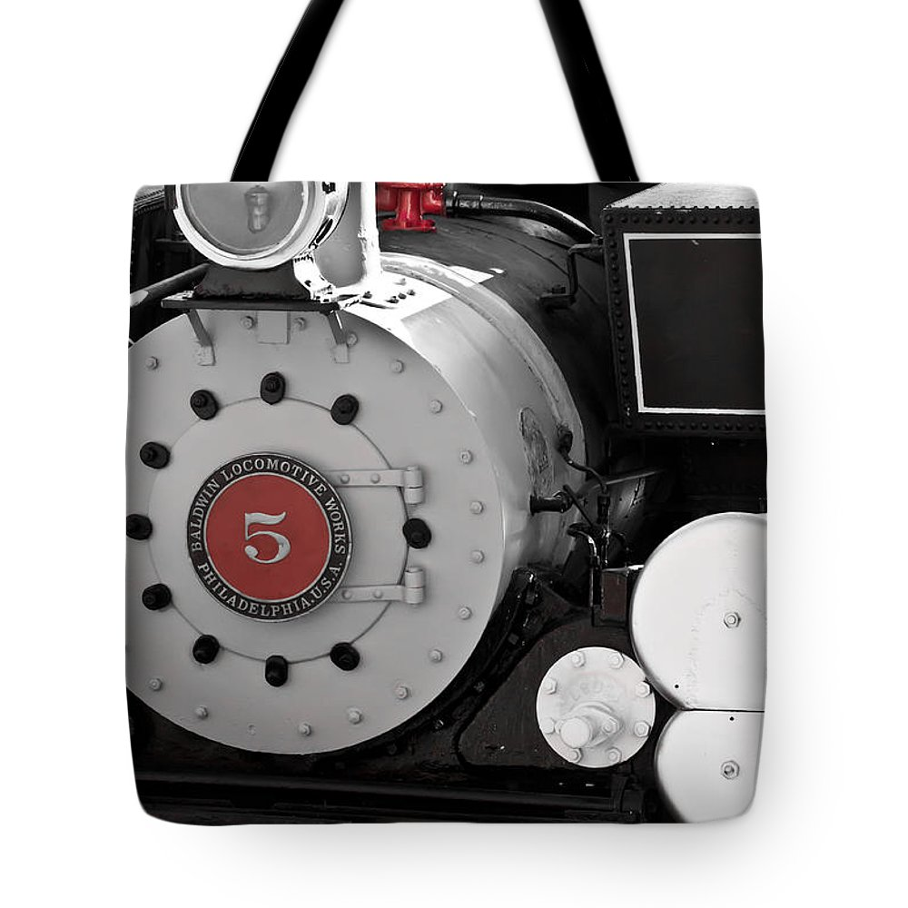 Train Tote Bag featuring the photograph Locomotive Number Five by Colleen Coccia