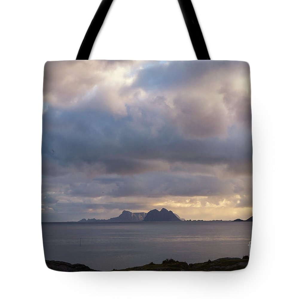 Norway Tote Bag featuring the photograph Lofoten Sunset 4 by Timothy Hacker