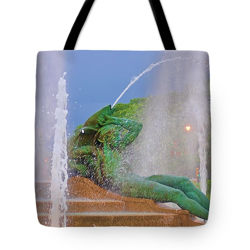 Fountain Tote Bag featuring the photograph Logan Circle Fountain 3 by Bill Cannon