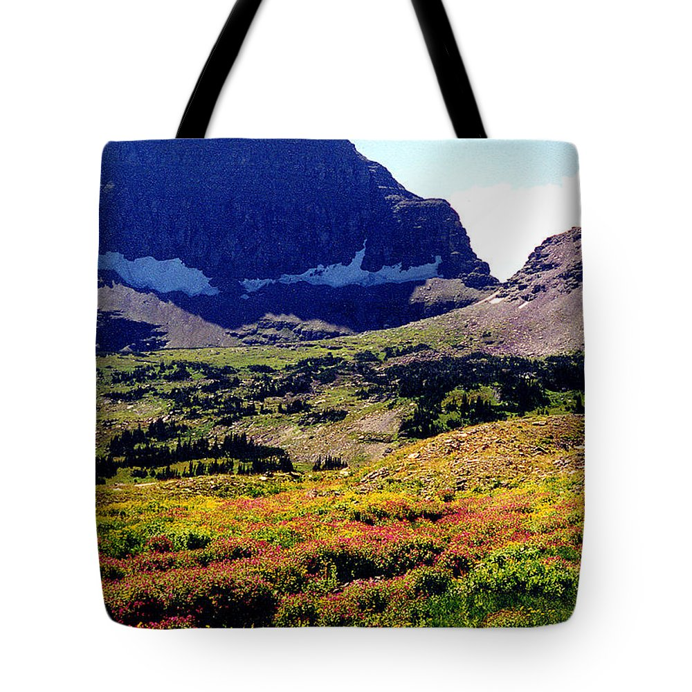 Glacier National Park Tote Bag featuring the photograph Logans Pass In Glacier National Park by Nancy Mueller
