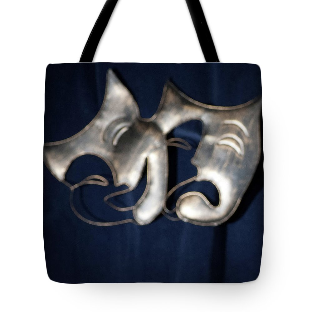 Logo Tote Bag featuring the photograph Logo for Theater Productions by Alan D Smith