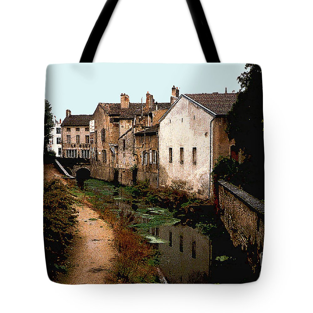 France Tote Bag featuring the photograph Loire Valley Village Scene by Nancy Mueller