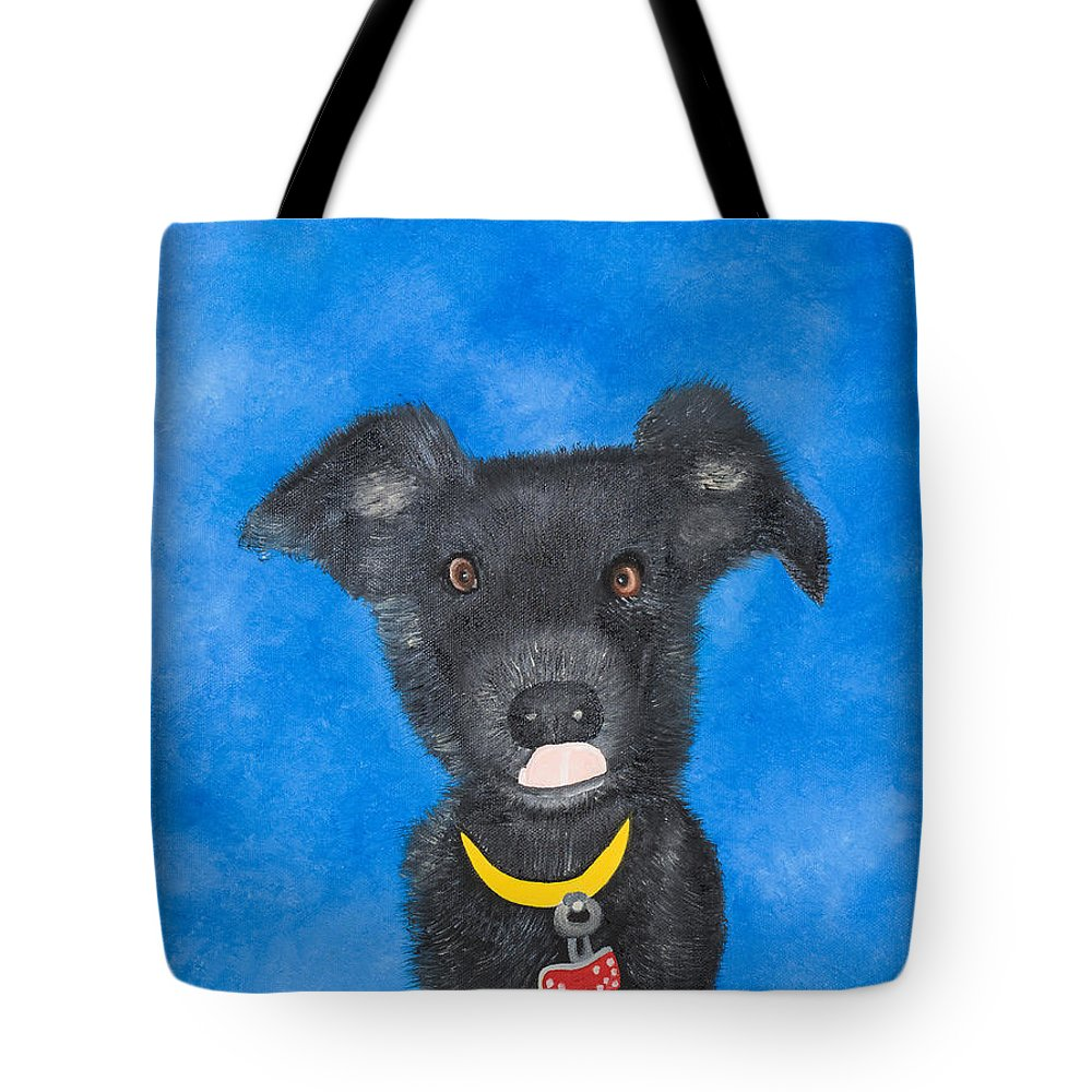Dog Tote Bag featuring the painting Lola by Sandra Lorant