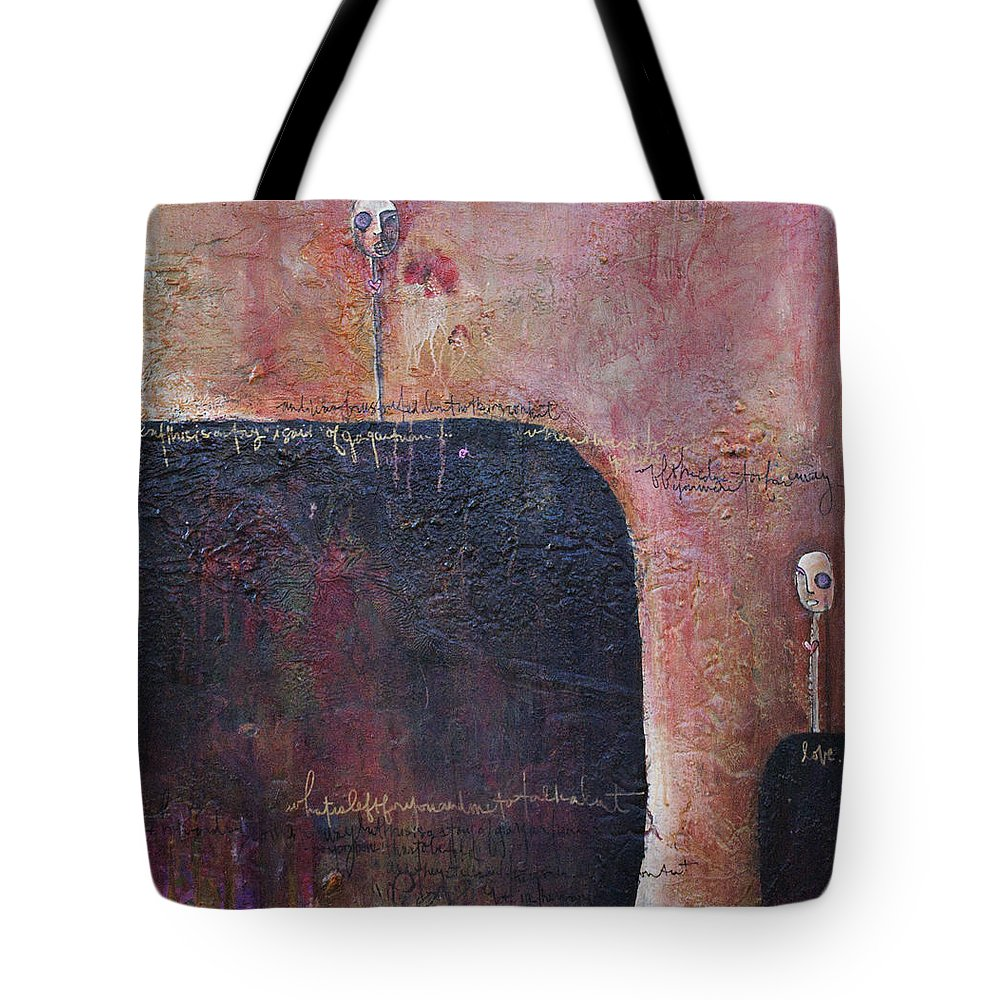 From The Lollipop Love Series. Mixed Media On Recycled Wood Panel Tote Bag featuring the painting Lollipop Love No. 1 by Laurie Maves ART