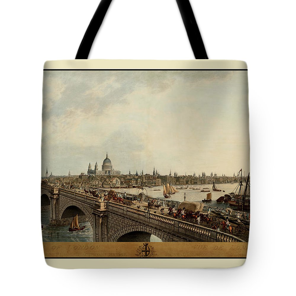 London.vintage London Tote Bag featuring the photograph London 1802 by Andrew Fare