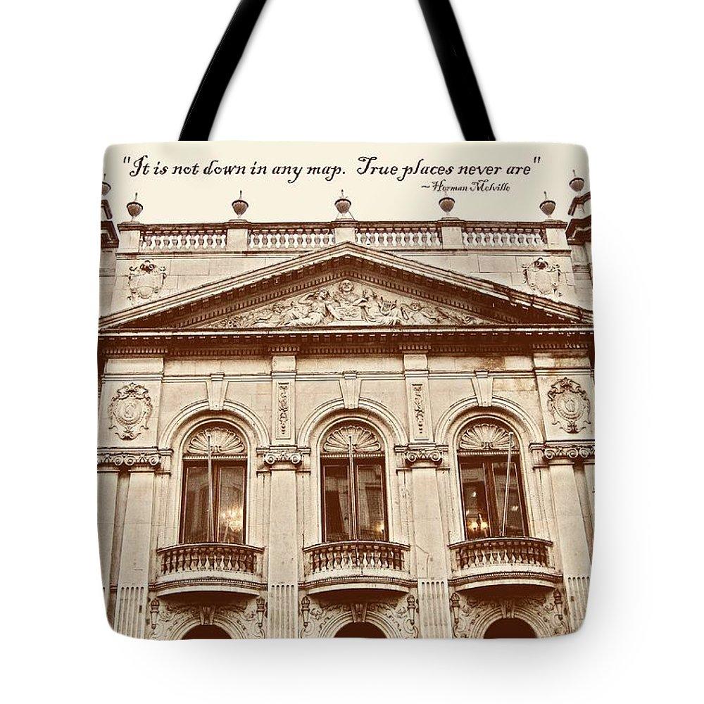 London Tote Bag featuring the photograph London Living Quote by JAMART Photography