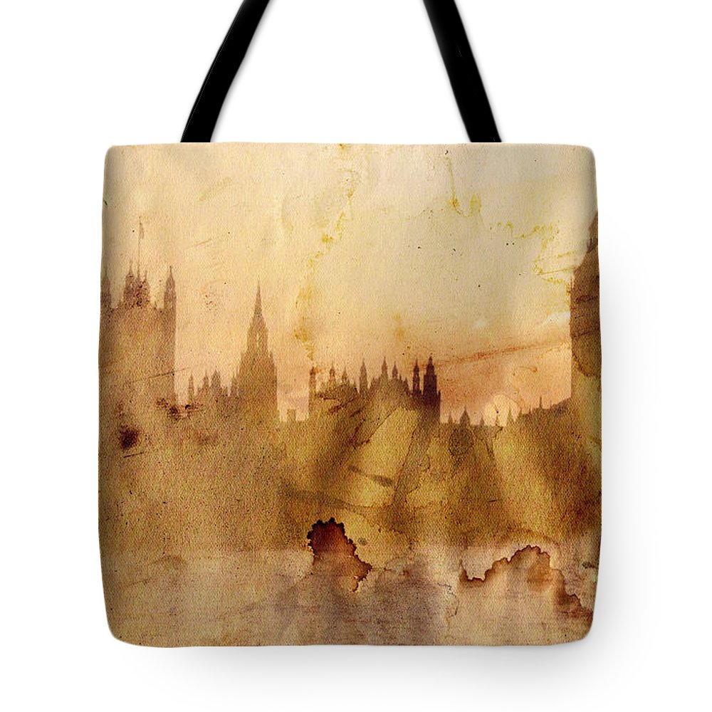 London Tote Bag featuring the painting London by Michal Boubin