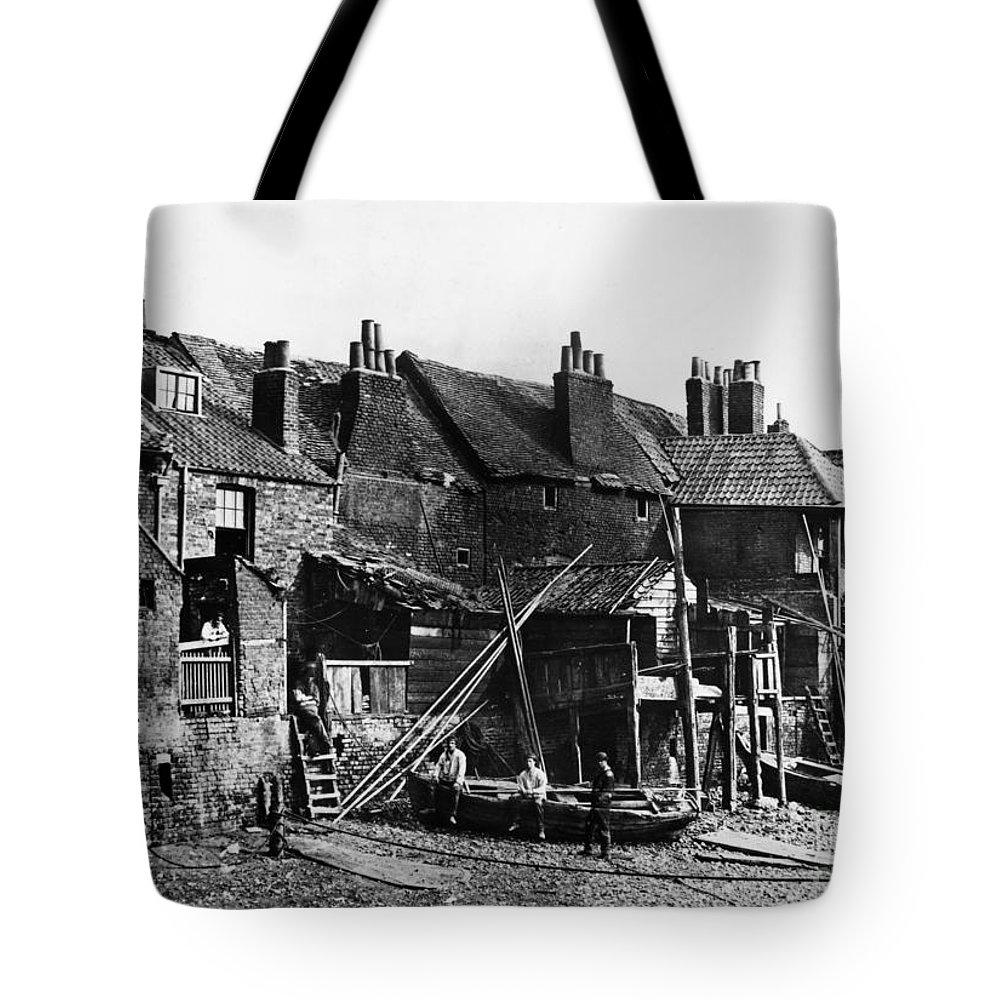 1860 Tote Bag featuring the photograph London: Riverside, C1860 by Granger