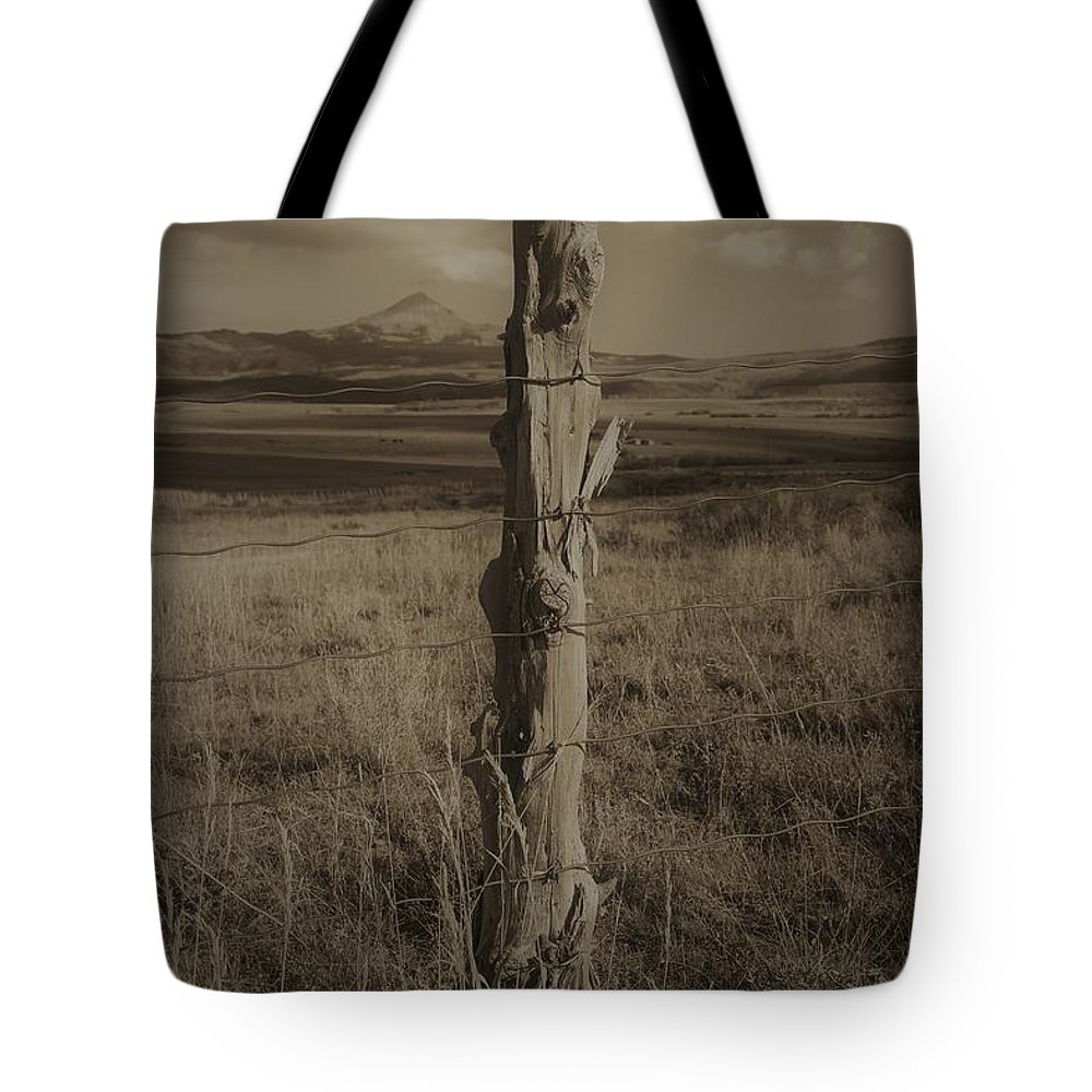 Tote Bag featuring the photograph Lone Cone Post by David White