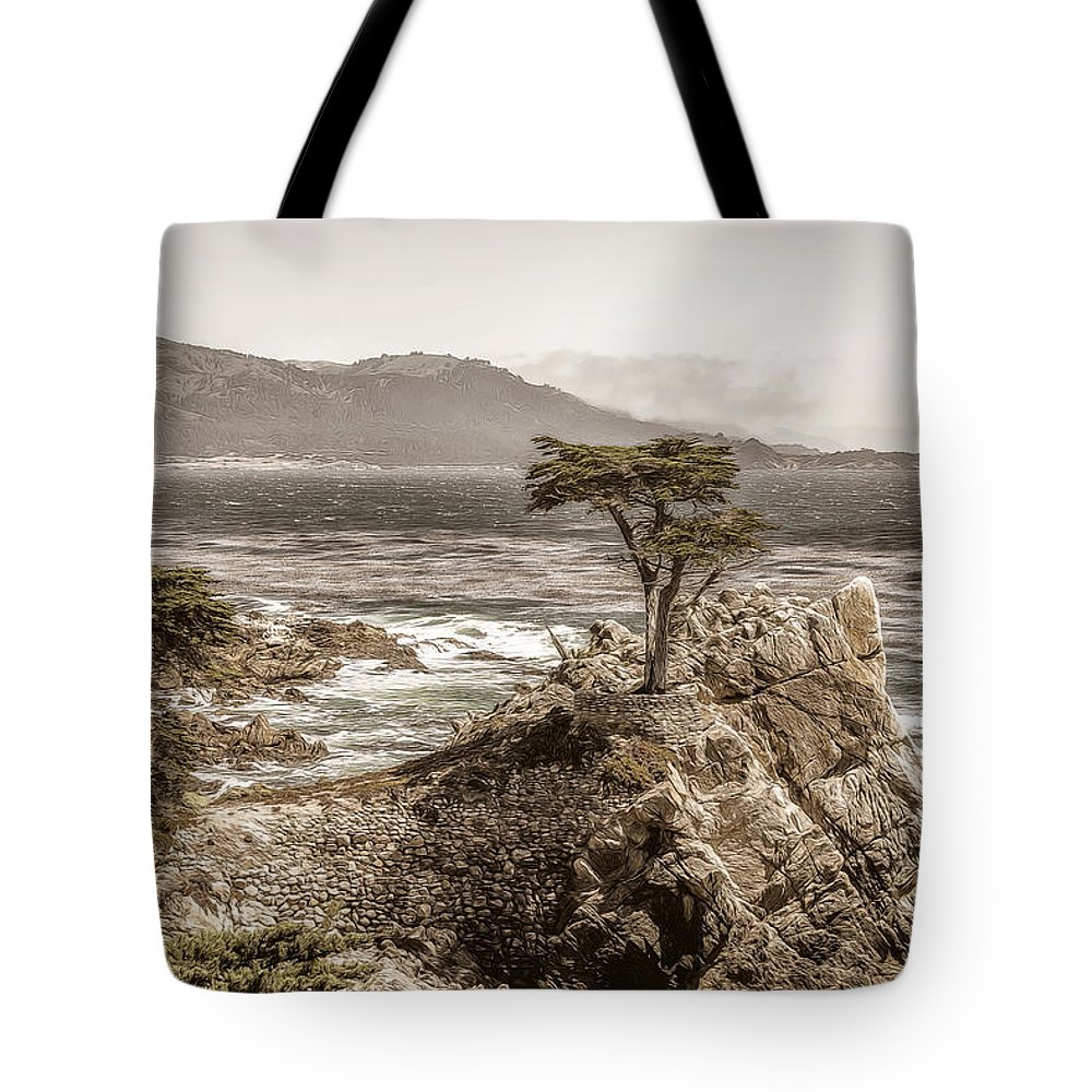 17 Tote Bag featuring the photograph Lone Cypres by Maria Coulson