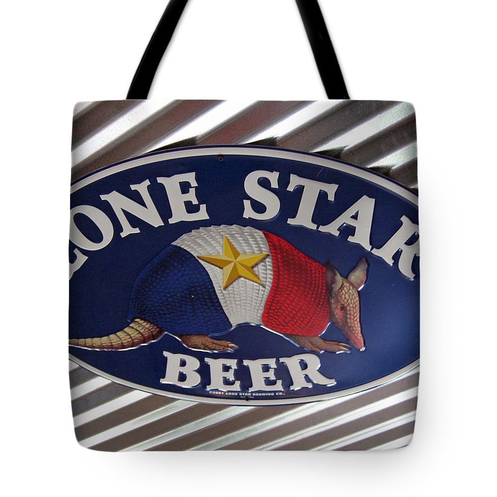 Beer Tote Bag featuring the photograph Lone Star Beer by Elizabeth Rose