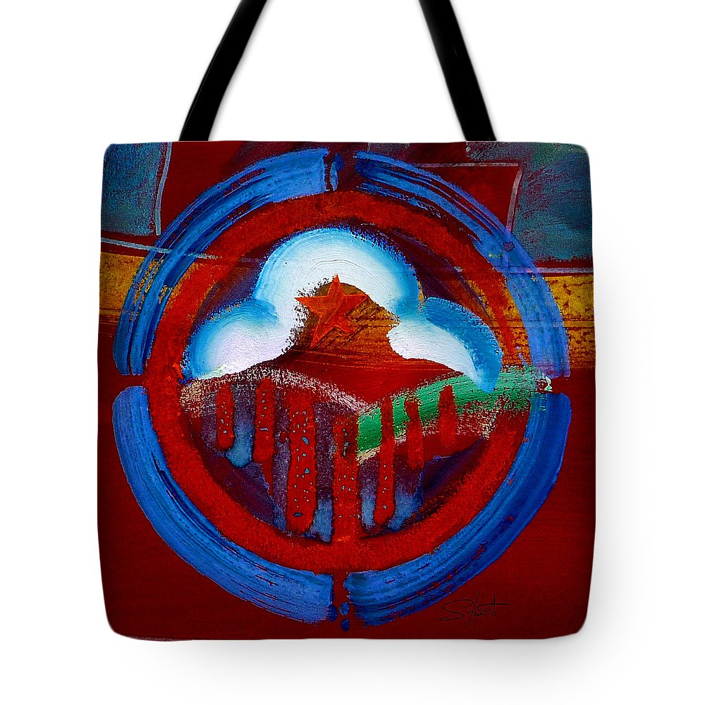 Star Tote Bag featuring the painting Lone Star State by Charles Stuart
