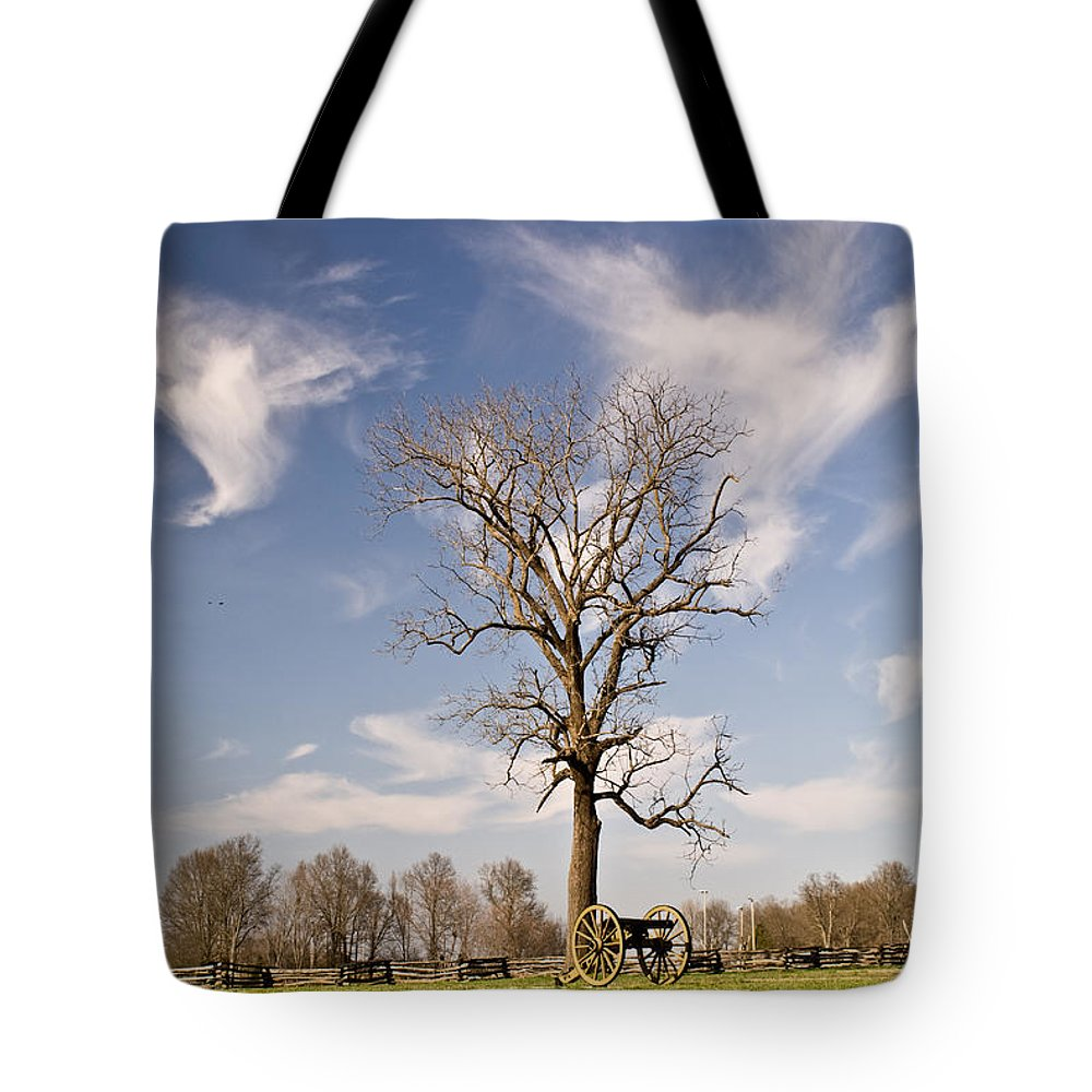 Civil Tote Bag featuring the photograph Loneliness Of The Battle Field by Douglas Barnett