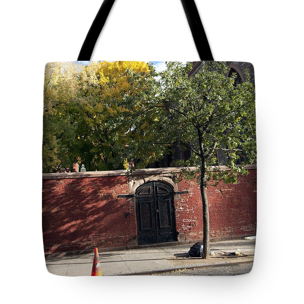 Wall Tote Bag featuring the photograph Lonely Door by Mary Haber