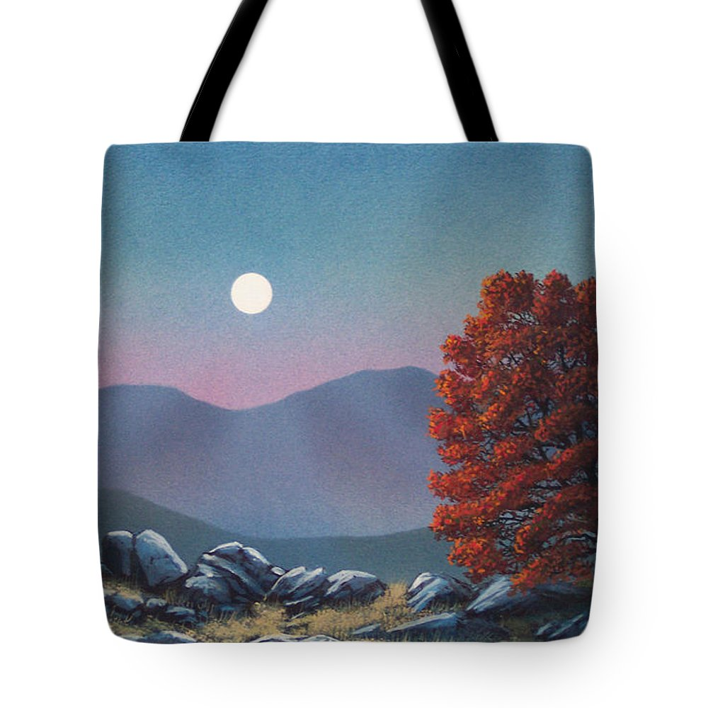 Landscape Tote Bag featuring the painting Lonely Sentinel by Frank Wilson