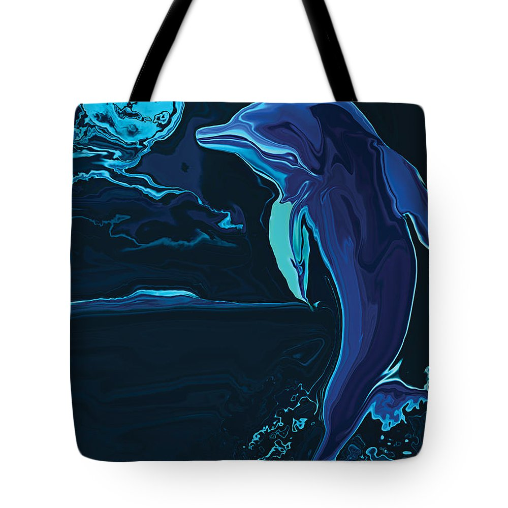 Animal Tote Bag featuring the digital art Lonely Tonight by Rabi Khan