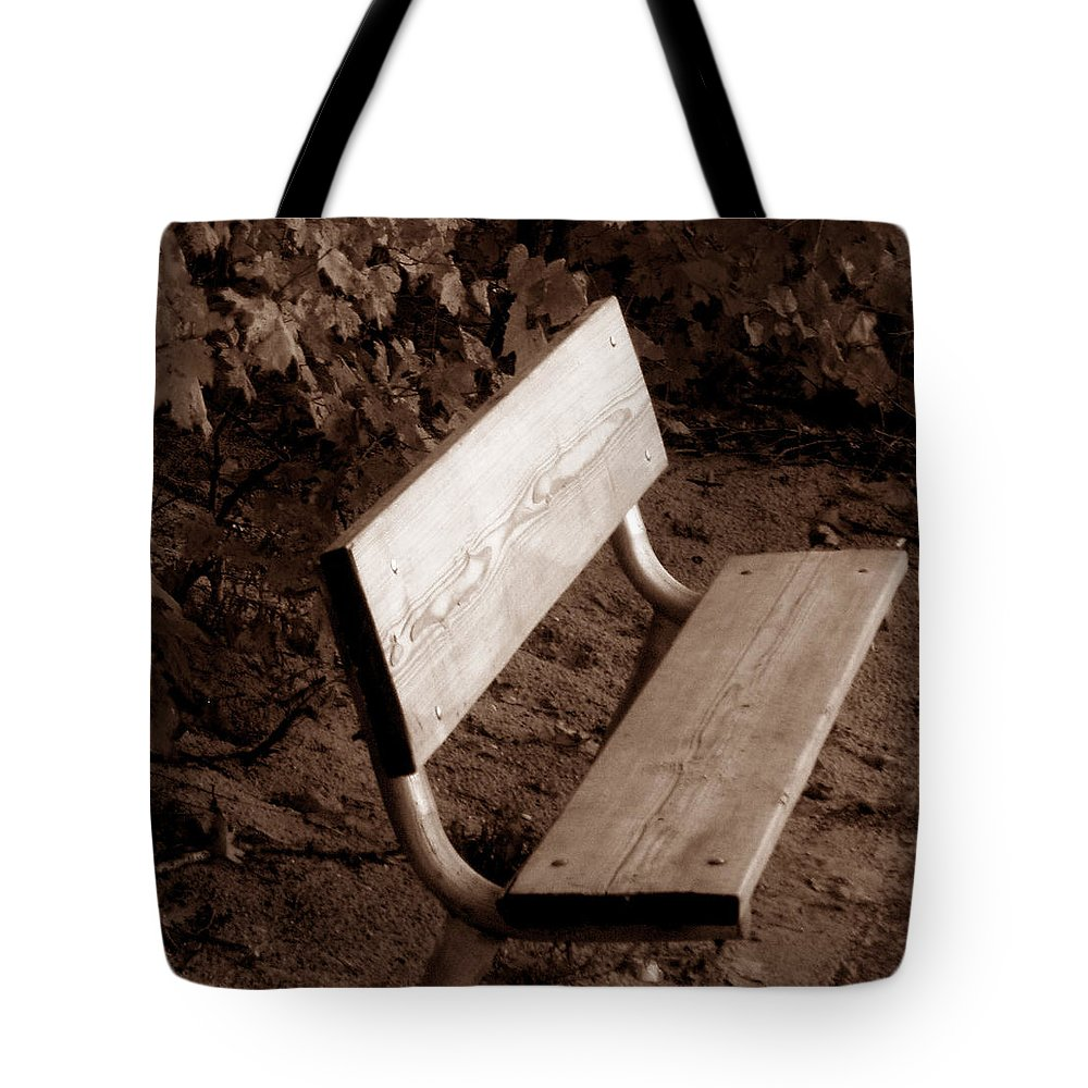Lonliness Tote Bag featuring the photograph Lonely by Wayne Potrafka