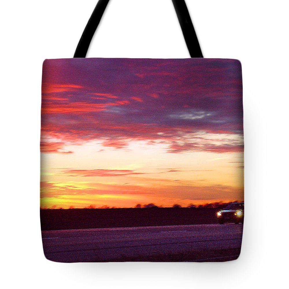 Landscape Tote Bag featuring the photograph Lonesome Highway by Steve Karol