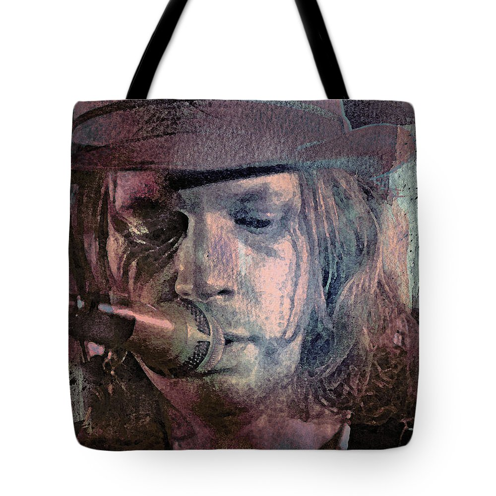 Beck Tote Bag featuring the mixed media Lonesome Tears by Mal Bray