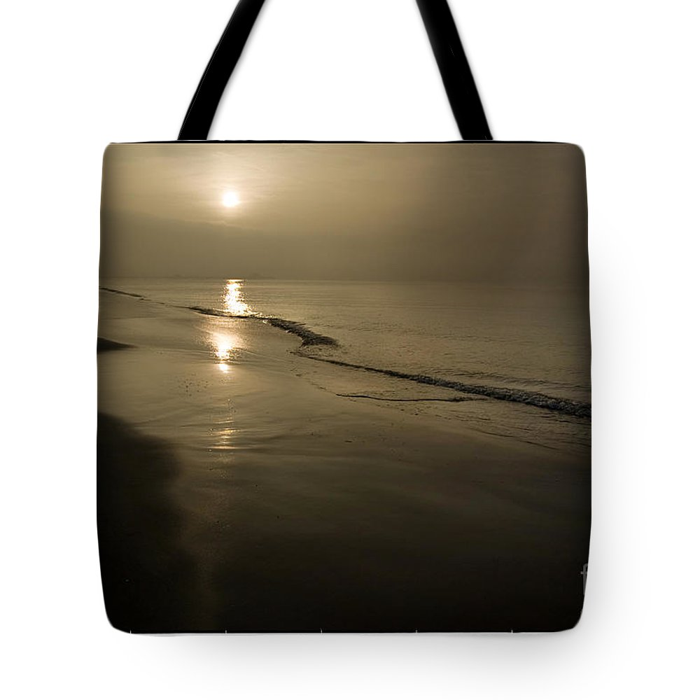 Long Beach Tote Bag featuring the photograph Long Beach Gold by Michael Ziegler