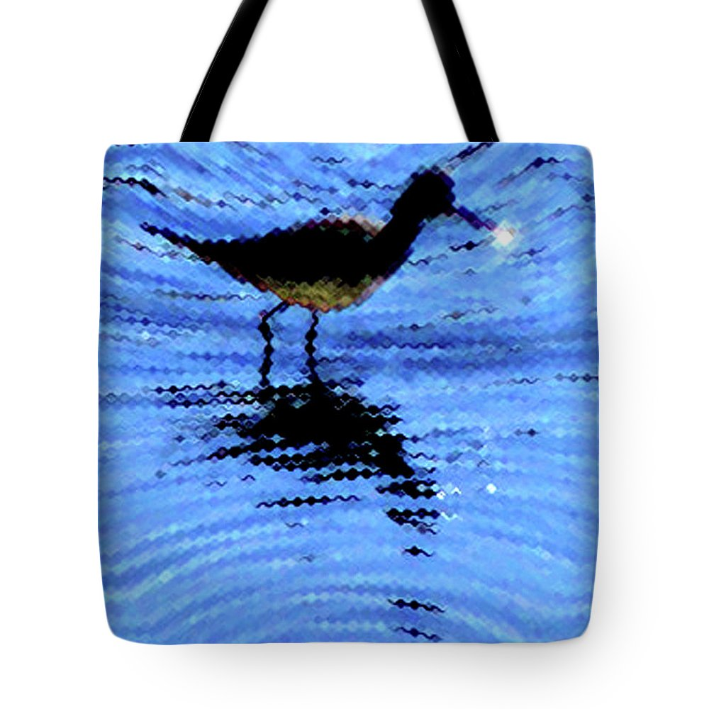 Bird Tote Bag featuring the photograph Long-billed Diwitcher by Donna Brown
