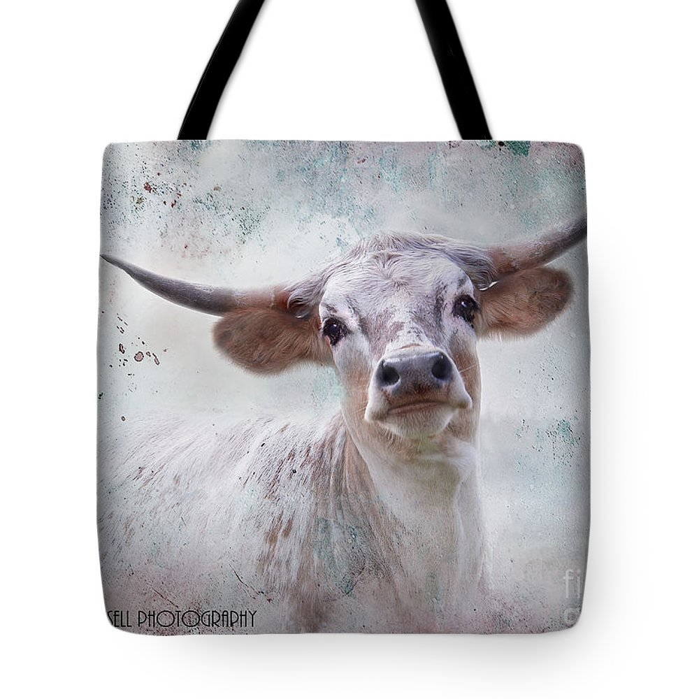 Steer Tote Bag featuring the photograph Long Horn by Kathy Russell