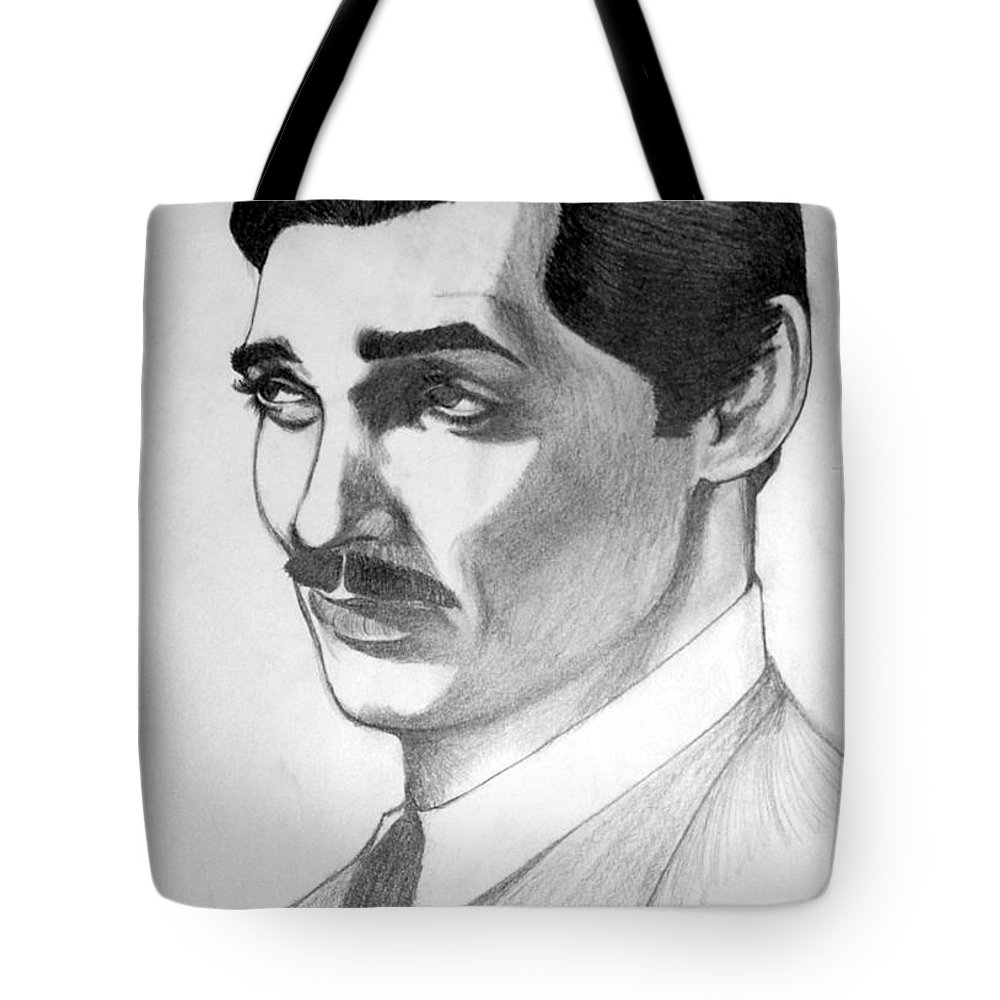 Portrait Tote Bag featuring the drawing Long Live the King by Marco Morales