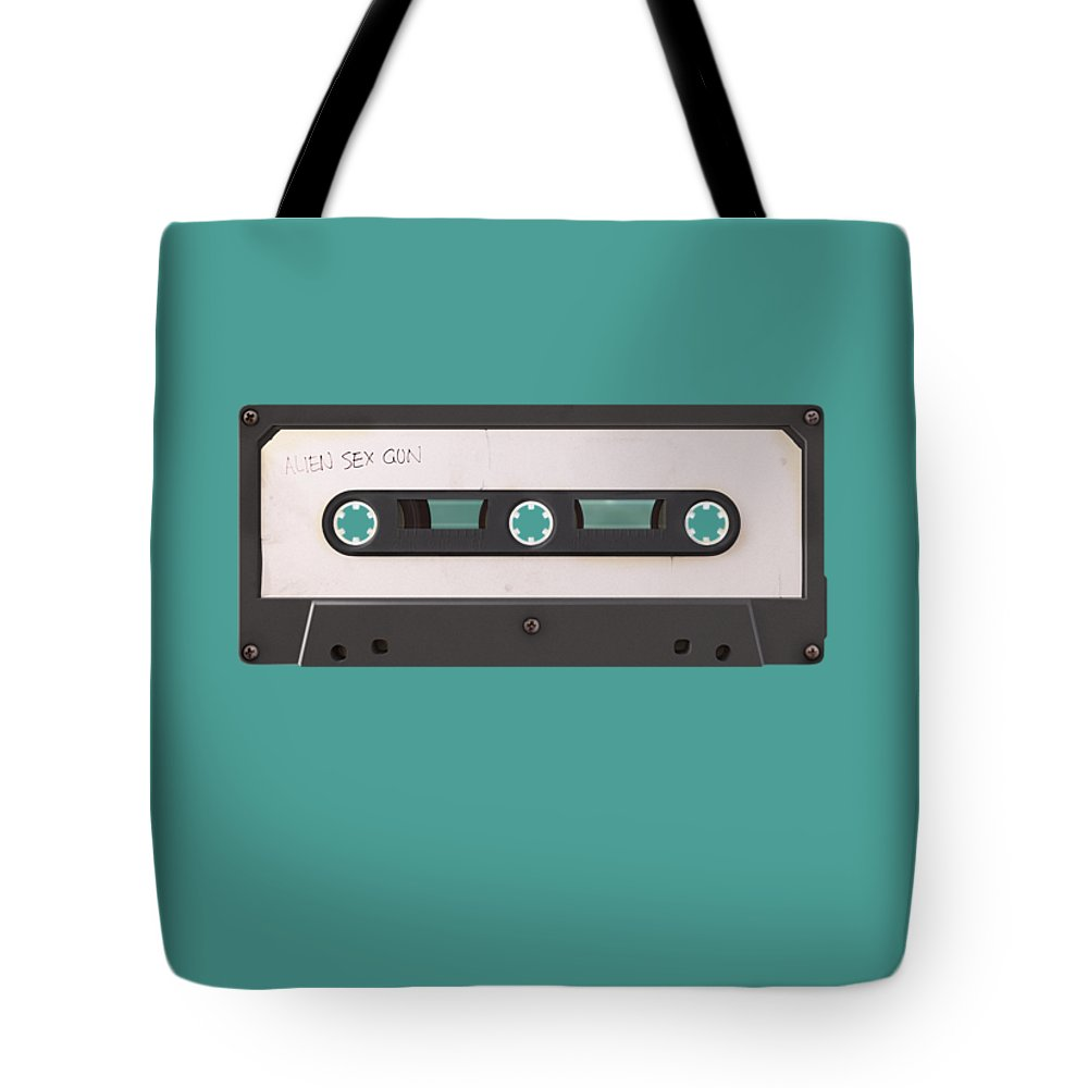 Juxtaposition Tote Bag featuring the digital art Long Play by Nicholas Ely