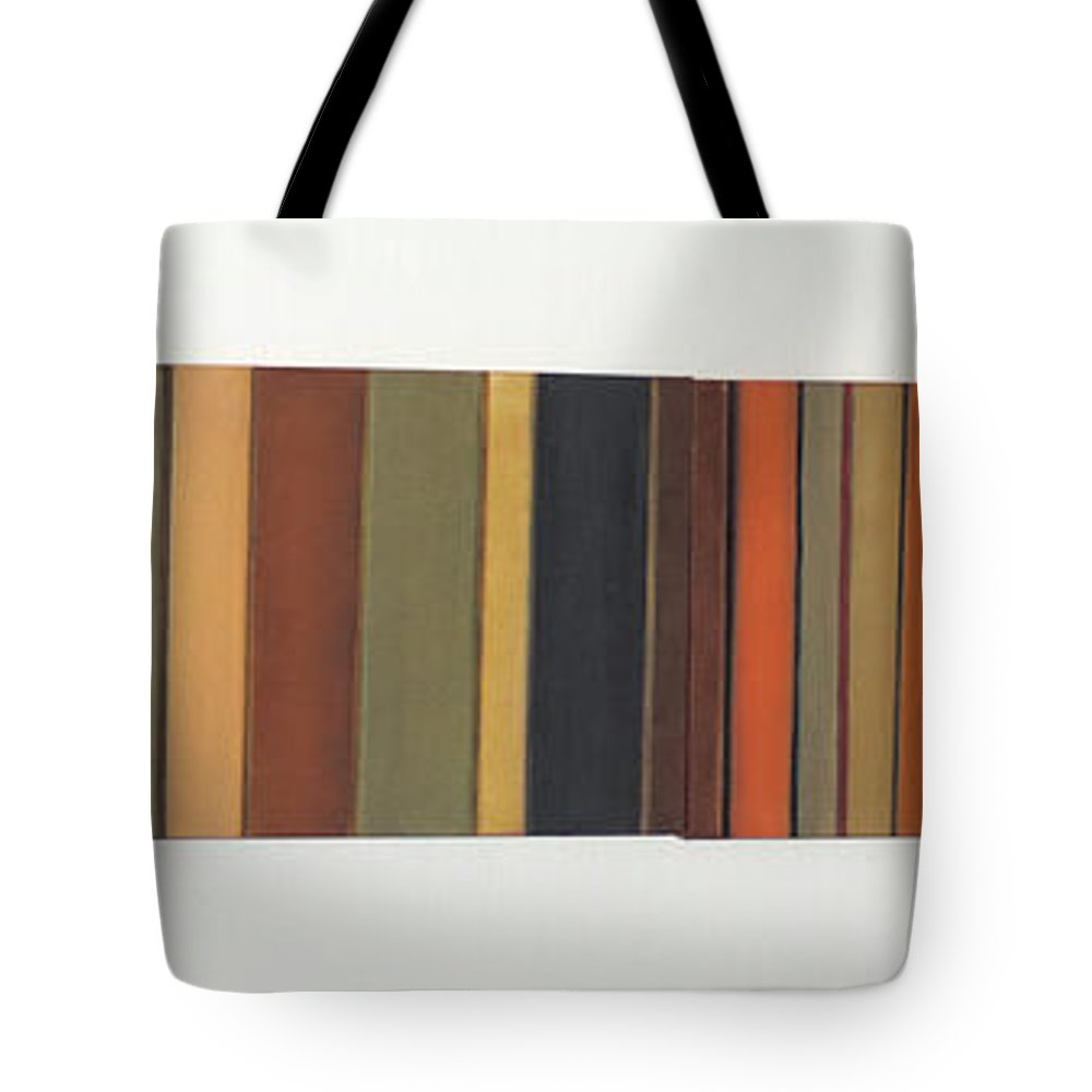 #abstract Tote Bag featuring the painting Long Track by Erin Trunel