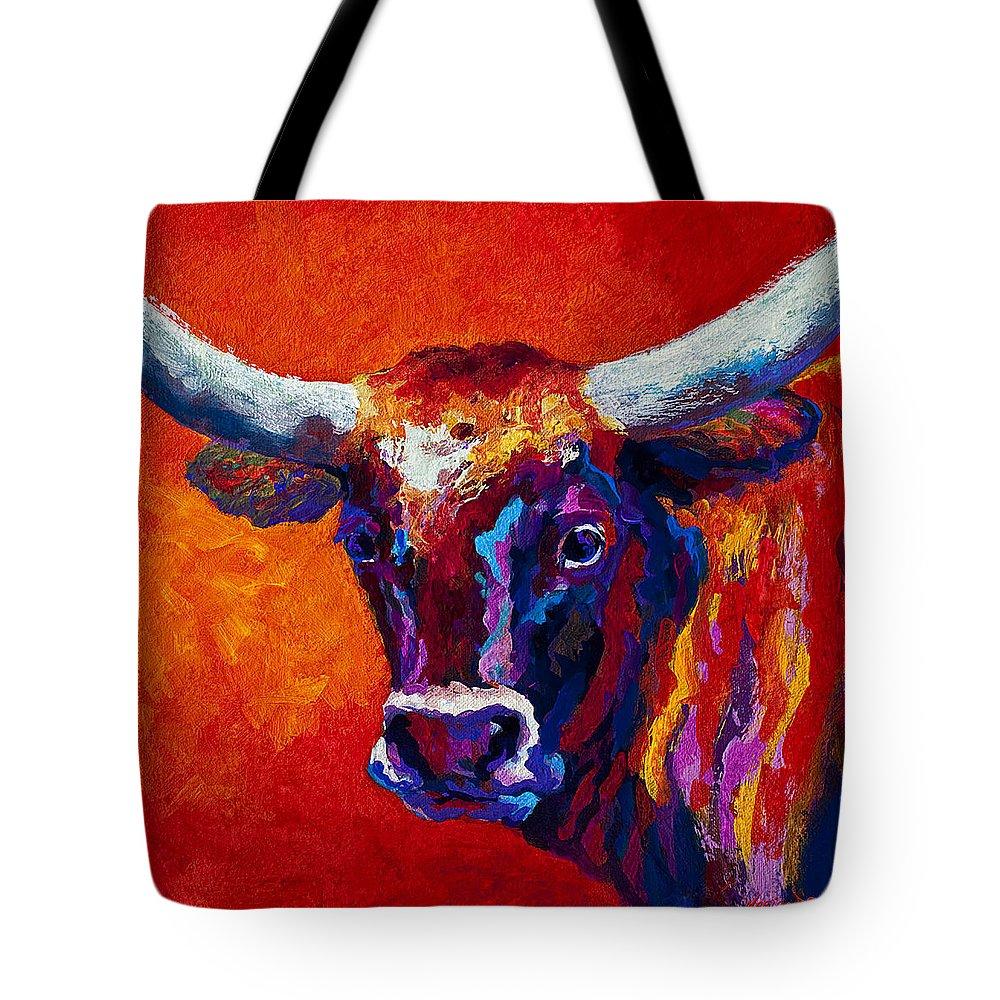 Longhorn Paintings Tote Bags