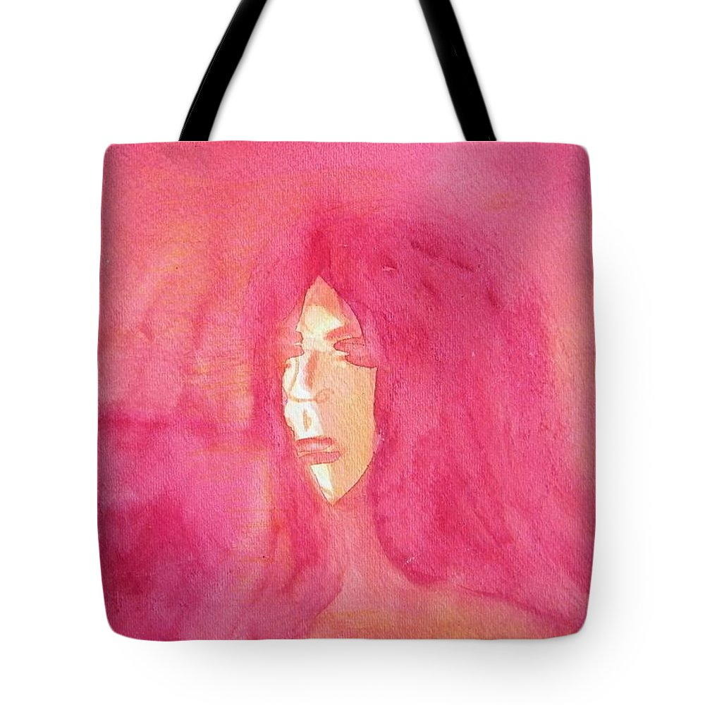 Abstract Tote Bag featuring the painting Longing 2 by Judith Redman