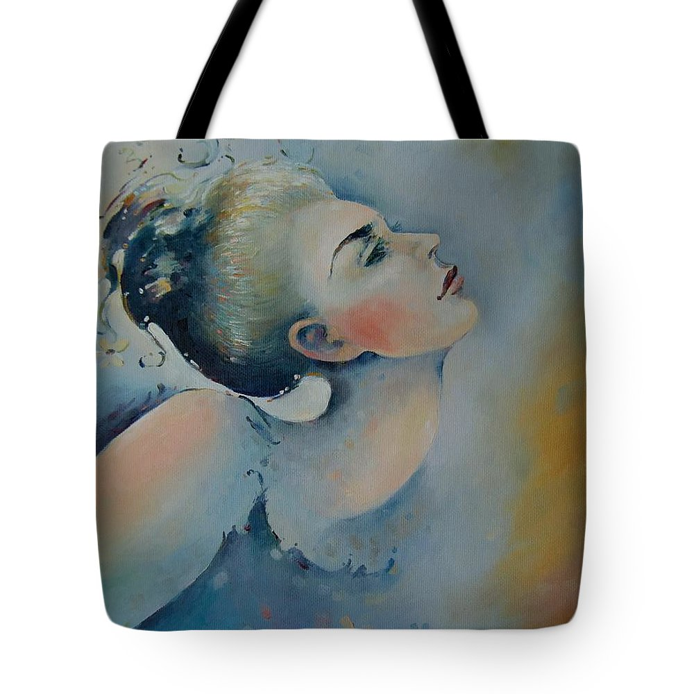 Art Tote Bag featuring the painting Longing For Harmony by Anita Zotkina