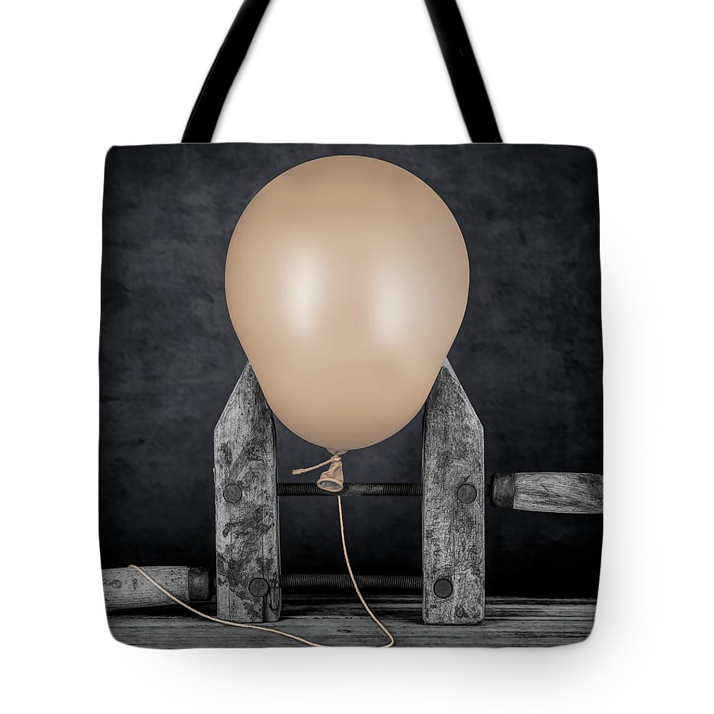 Balloon Tote Bag featuring the photograph Longing To Be Free by Tom Mc Nemar