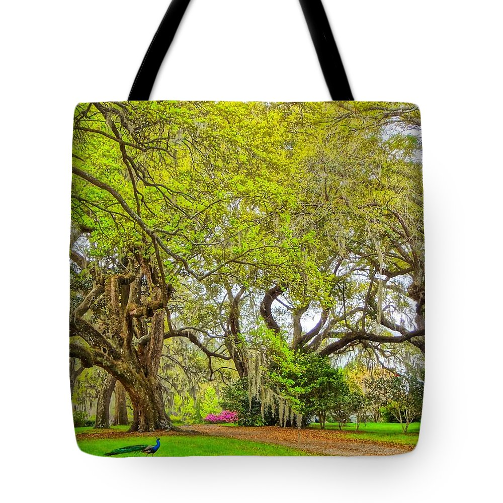 Plantation Tote Bag featuring the photograph Longwood Plantation In Spring Glory by Susan Bryant