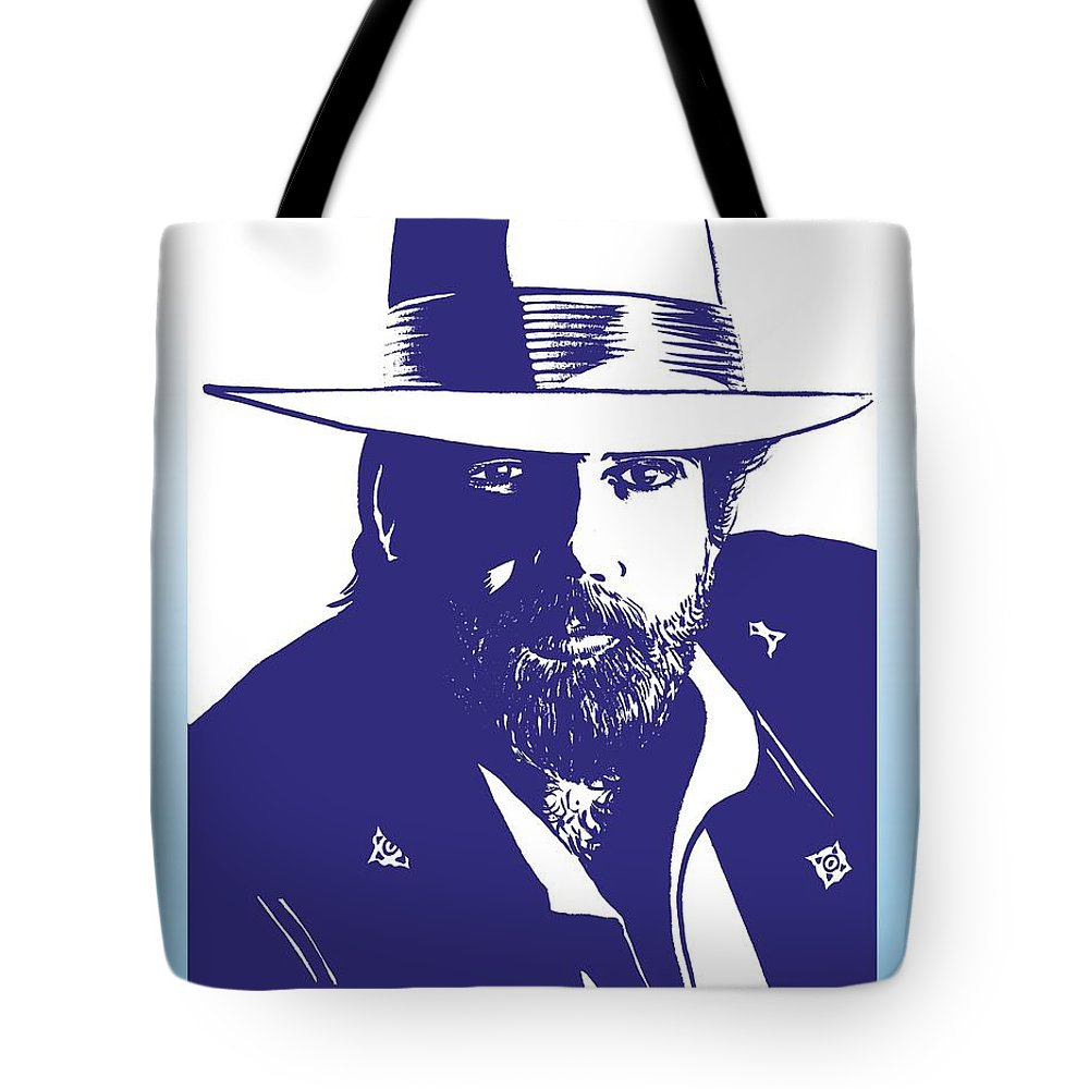 Lonnie Tote Bag featuring the drawing Lonnie Mack by Markus Neal Humby