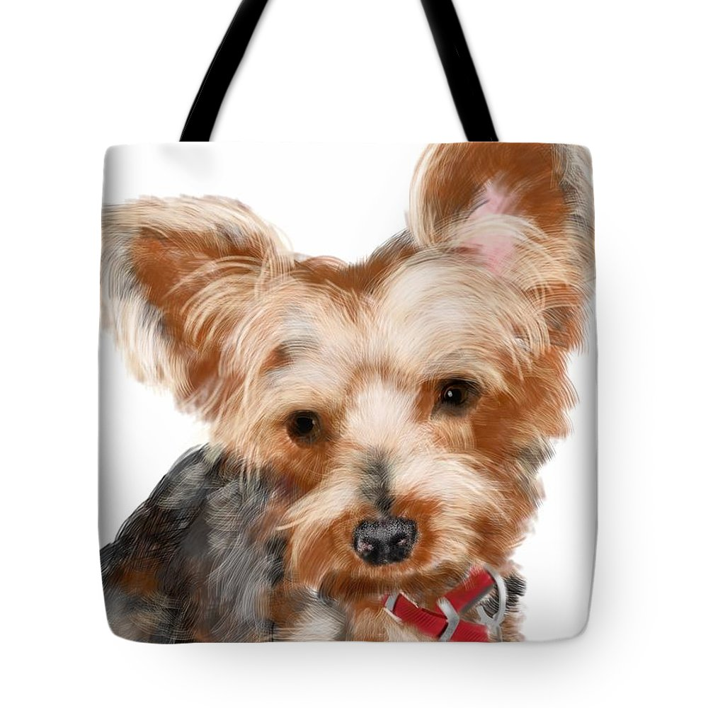 Animals Tote Bag featuring the painting Look At Me by Lois Ivancin Tavaf