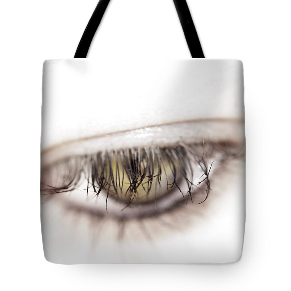 Eye Tote Bag featuring the photograph Look Away by Kelly Jade King