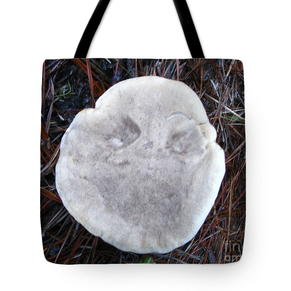 Mushroom Tote Bag featuring the photograph Look Closely Boo by Donna Brown