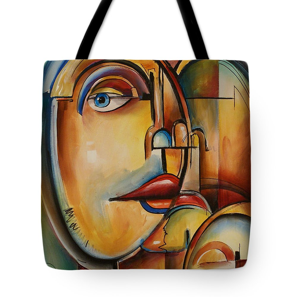 Tote Bag featuring the painting Look by Michael Lang