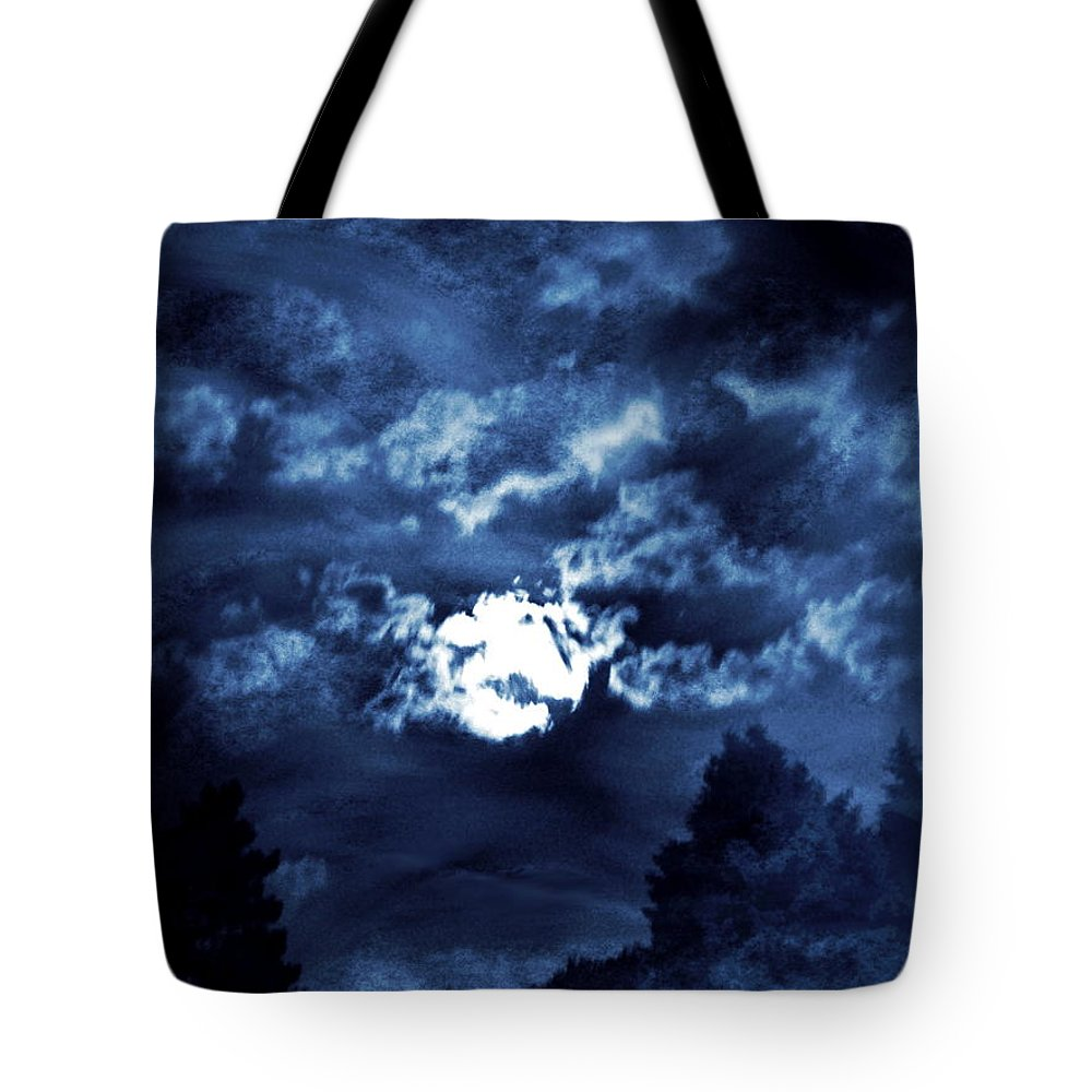 Night Tote Bag featuring the photograph Look With A Pure Heart by Abstract Angel Artist Stephen K